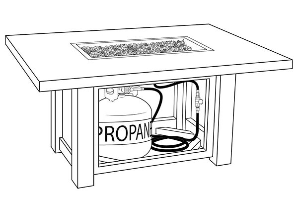 How to install a propane burner pan for a fire pit.